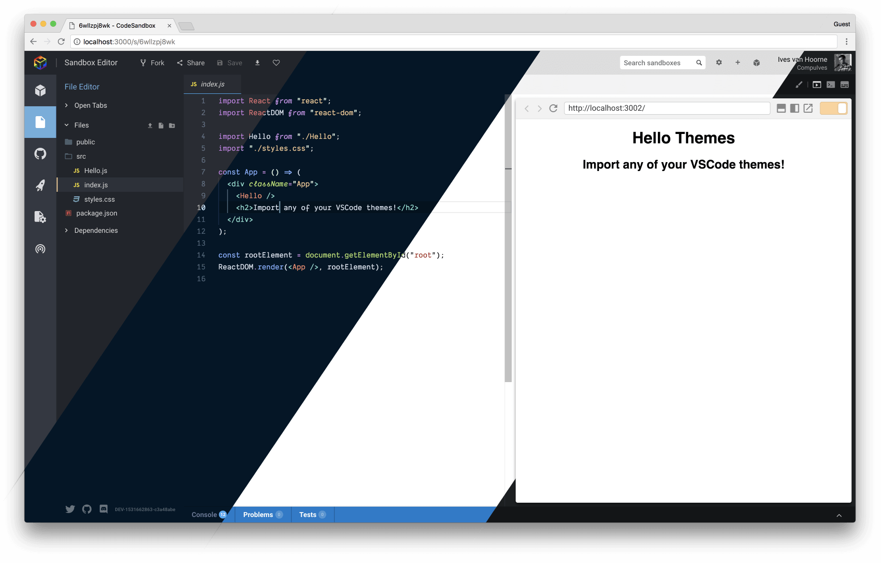 Introducing Themes - CodeSandbox Blog